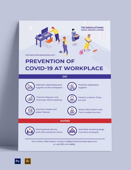 Free Coronavirus Poster Template