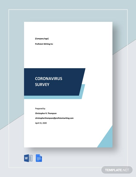 Coronavirus Survey Template