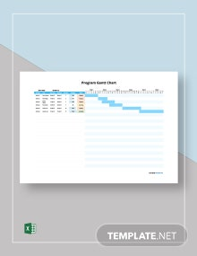 Free Example Program Gantt Chart Template
