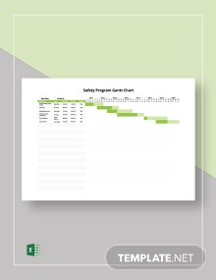 Safety Program Gantt Chart Template