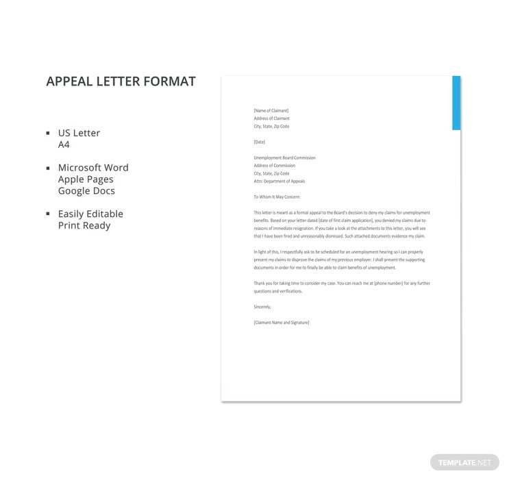 11 appeal letter templates pdf doc free premium templates appeal letter format 740x698 altavistaventures Gallery