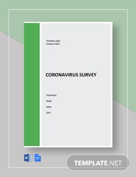 Coronavirus Survey Template Guide