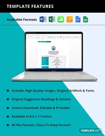 Real Estate Service Quotation Template Printable