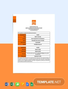 Real Estate Rental Quotation Template