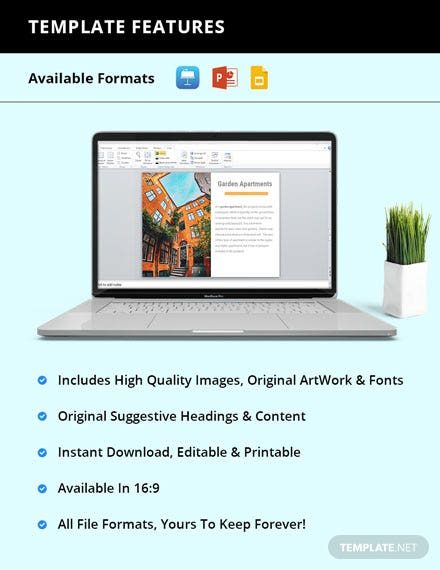 Free Sample Real Estate Presentation format