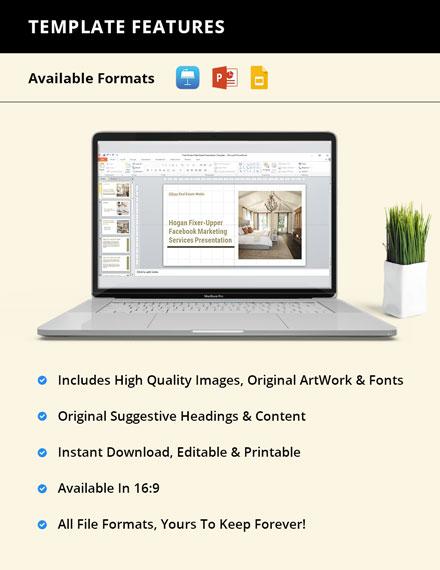 Free Modern Real Estate Presentation format