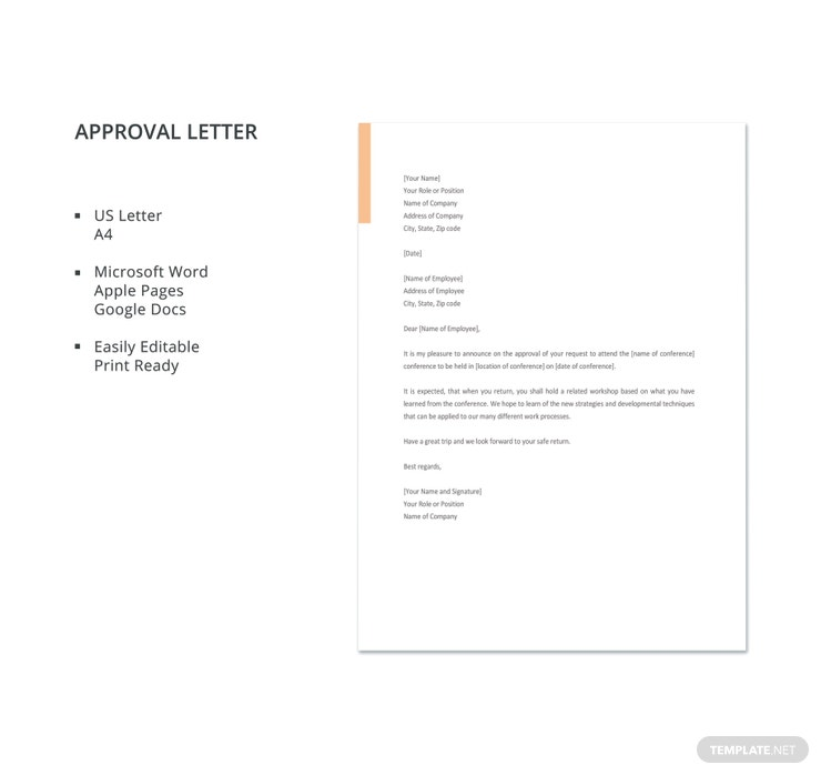 Captivating Approval Letter Template