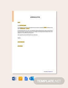Free Approval Letter Template