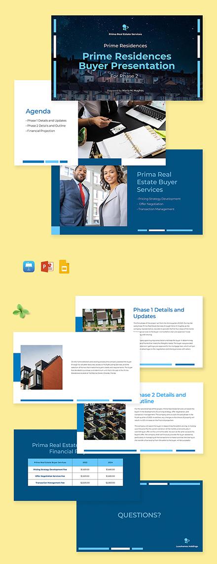 Real Estate Buyer Presentation Template