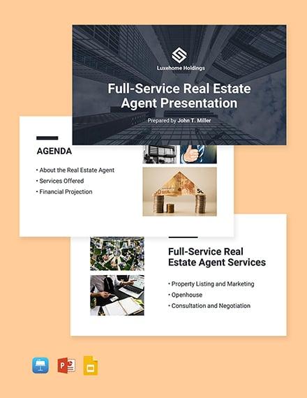 Real Estate Agent Presentation Template