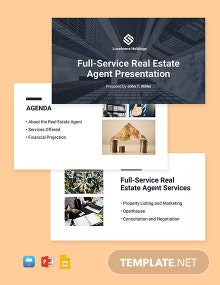 Real Estate Agent Presentation Template