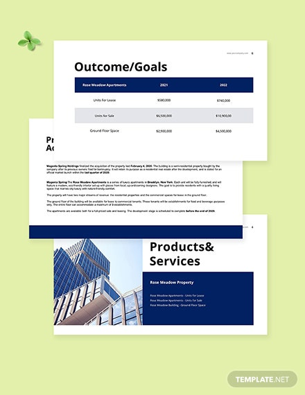 Real Estate Pitch Deck Template Sample