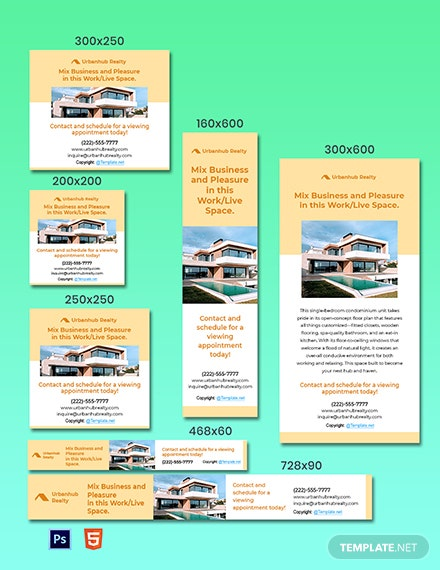 Free Modern Real Estate Ads Template