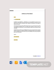 Free Approval Letter Format