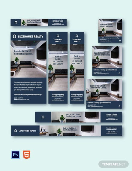 Luxury Real Estate Ads Template