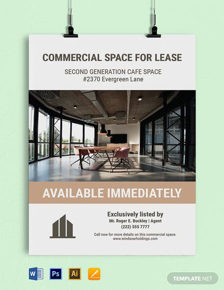 Free Commercial Real Estate Sign Template