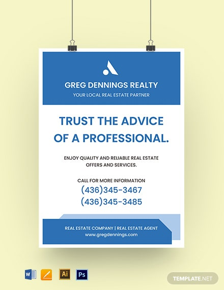 Real Estate Agency Yard Sign Template