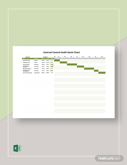 Internal Control Audit Gantt Chart Template