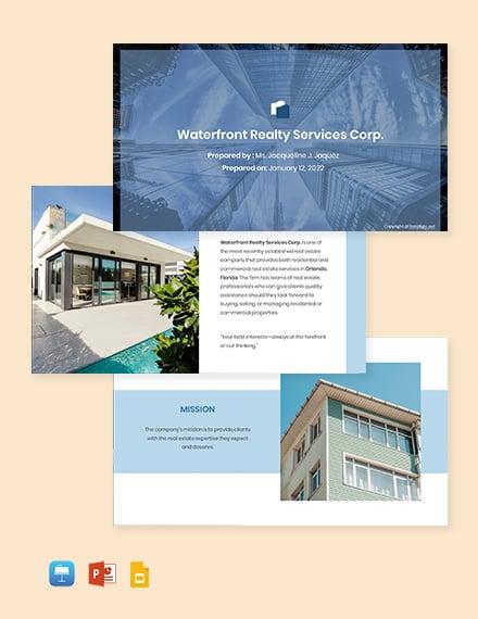 Free Sample Real Estate Profile Template