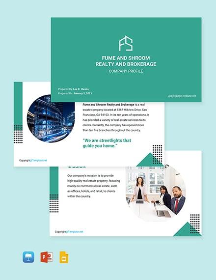 Free Creative Real Estate Profile Template