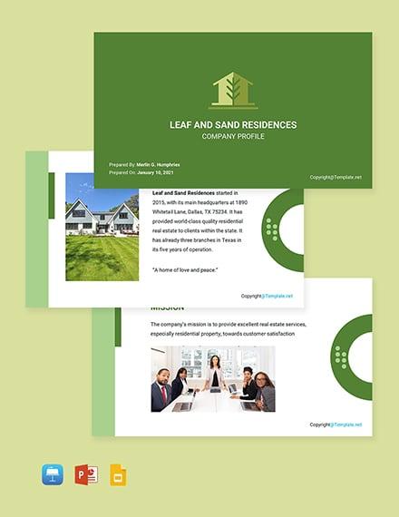 Free Modern Real Estate Profile Template