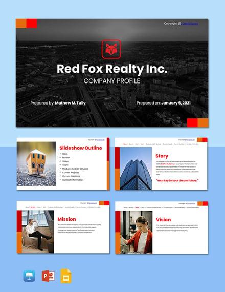 Free Elegant Real Estate Profile Template