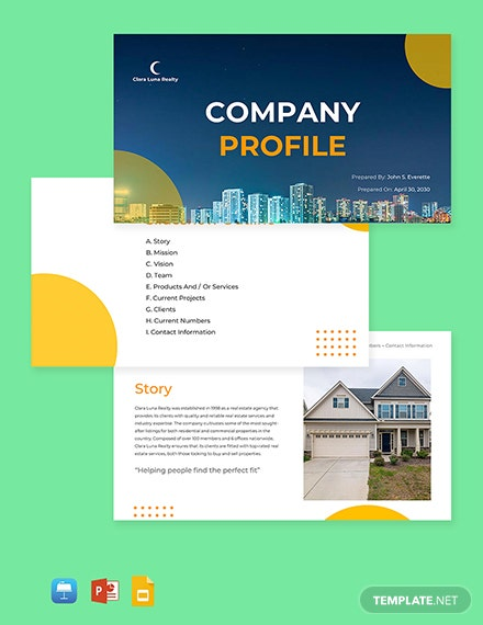 Real Estate Agency Profile Template
