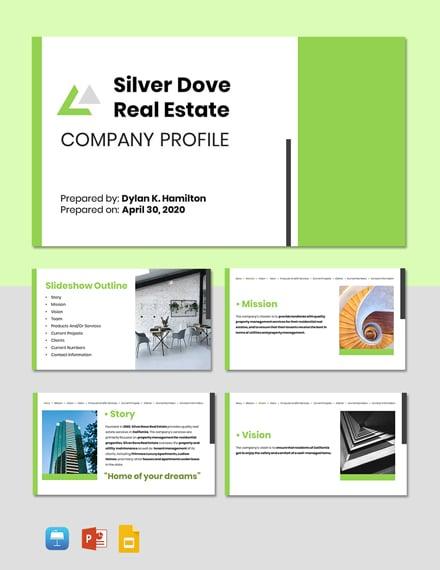 Real Estate Services Profile Template