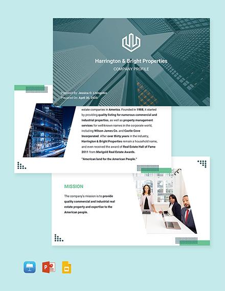 Real Estate Business Profile Template