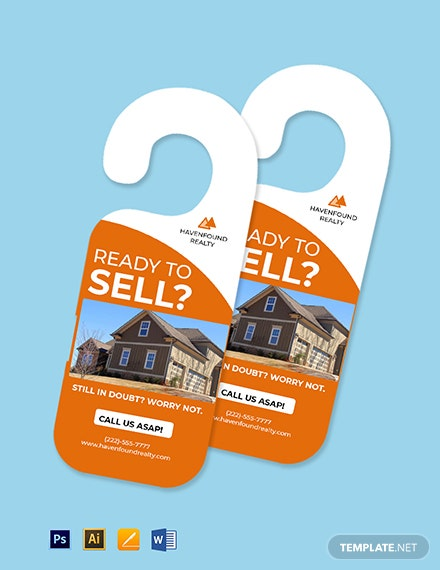 Free Simple Real Estate Door Hanger Template