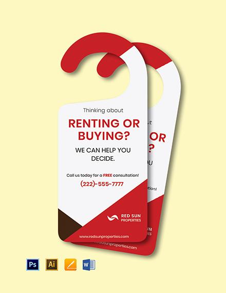 Rent or Buy Door Hanger Template