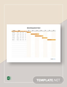 Free Simple Advertising Gantt Chart Template