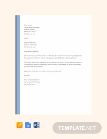 Free Job Rejection Letter