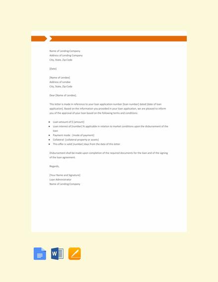 Free Loan Sanction Letter