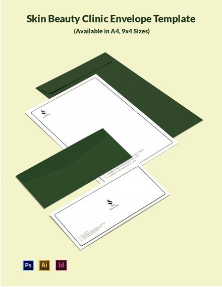 Skin Beauty Clinic Envelope Template