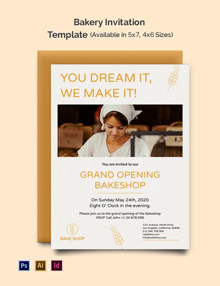Bakery Invitation Template