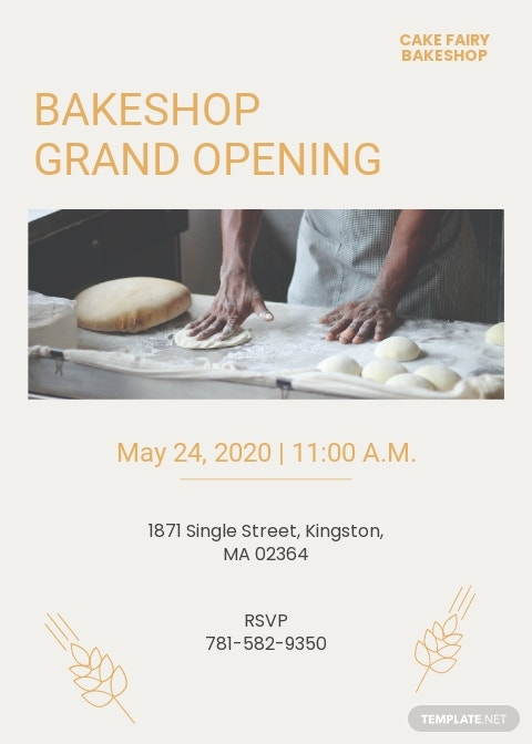 Bakery Invitation Template