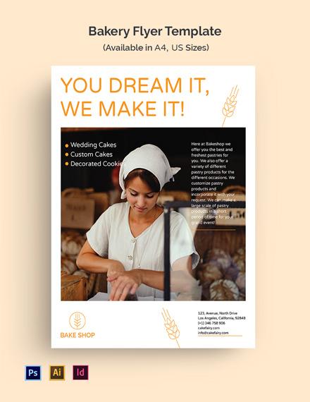 Bakery Promotion Flyer Template