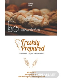 Bakery Pamphlet Template