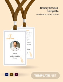 Bakery ID Card Template