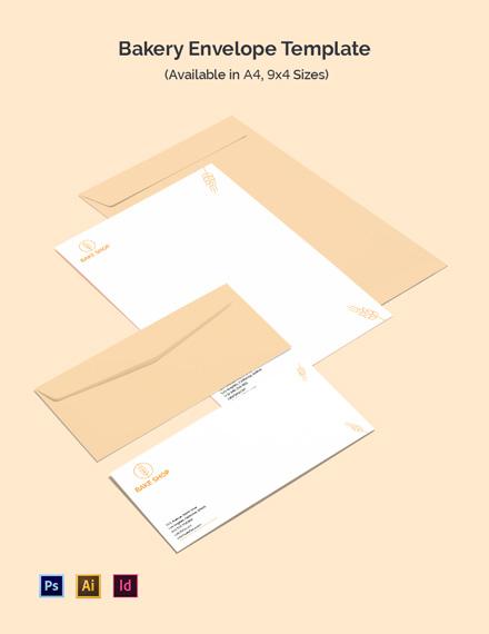 Bakery Envelope Template