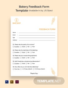 Bakery Feedback Form Template