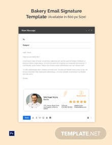 Bakery Email Signature Template