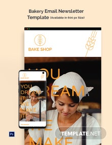 Bakery Email Newsletter Template