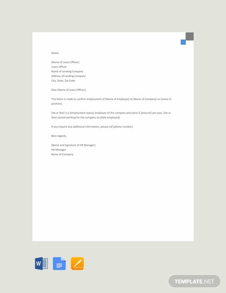 Free Proof of Income Letter from Employer