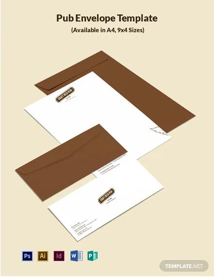 Pub Envelope Template