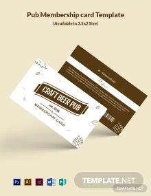 Free Pub Membership Card Template