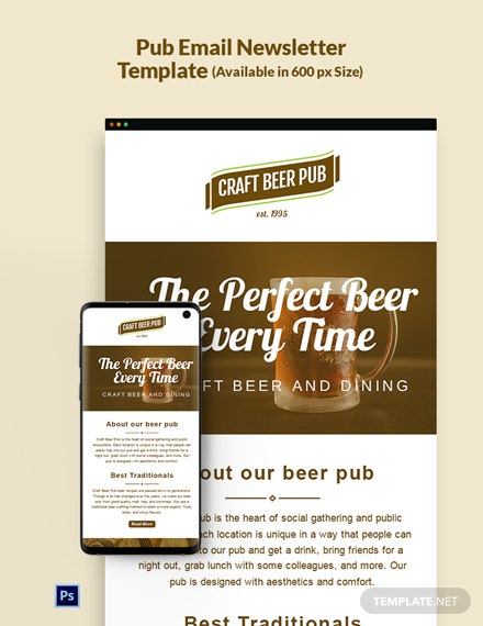 Pub Email Newsletter Template