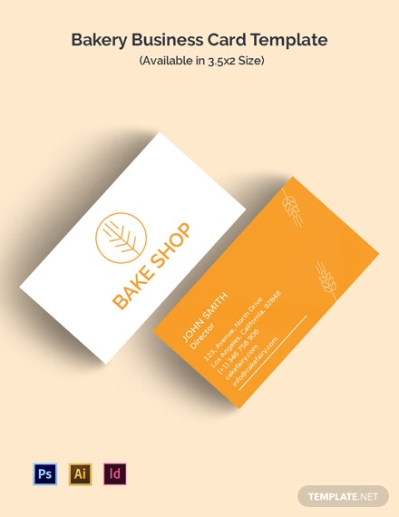 Bakery Business ID Card Template