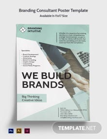 Branding Consultant Poster Template